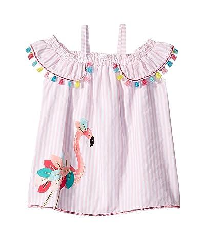 Mud Pie Flamingo Stripe Dress (Toddler) (Pink) Girl