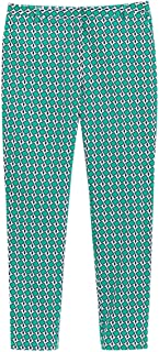 La Redoute Collections Womens Graphic Print Slim Fit Trousers, Length 27.5
