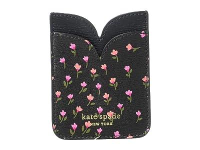 Kate Spade New York Meadow Double Sticker Pocket (Black Multi) Credit card Wallet