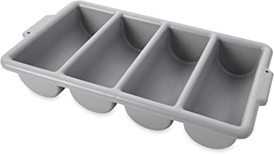 Rubbermaid Commercial FG336200GRAY 4-Compartment Cutlery Bin, Gray