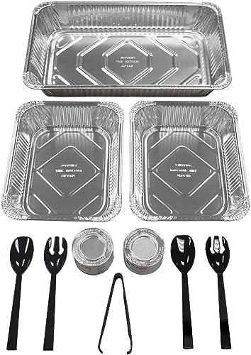Party Essentials Nachfüll-Set für Buffet Party Bankett, 10-teilig