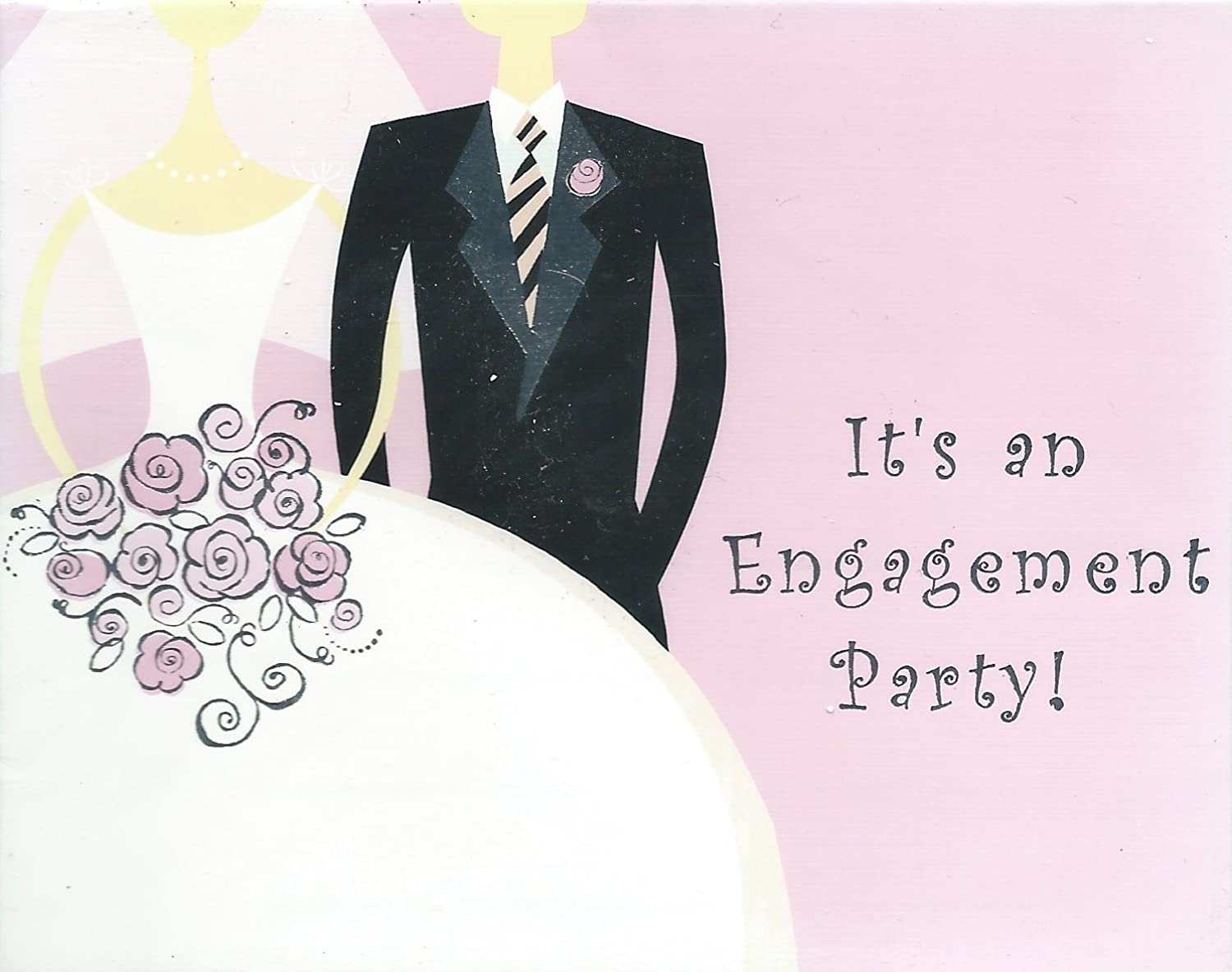 It's an Engagement Party Invite Pack of 8