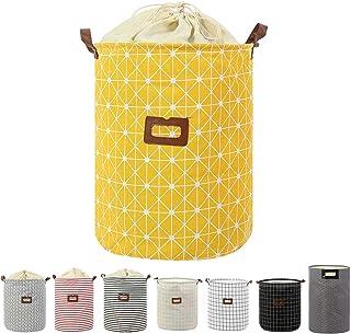 Clothes Laundry Hamper Storage Bin Large Collapsible Storage Basket Kids Canvas Laundry Basket for Home Bedroom Nursery Room (PATTERN-04)