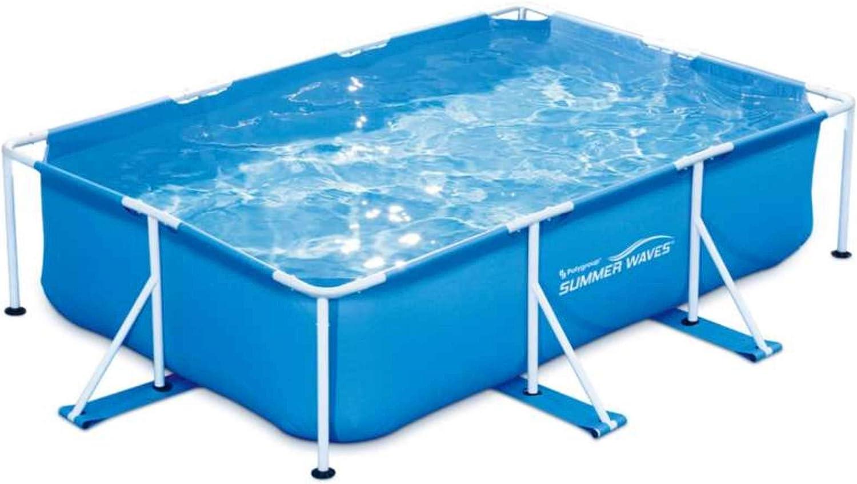 Summer Waves Piscine Tubulaire rectangulaire 3x2,01x0,75m Tubular, Azul