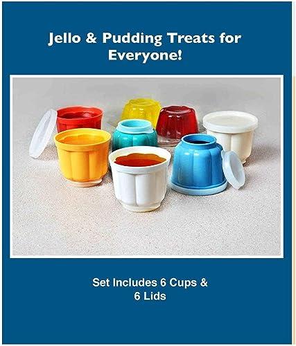 popular REUSABLE online sale 12 online PIECE SNACK GELATIN CUPS WITH LIDS online