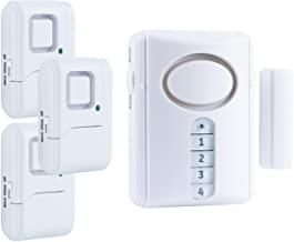 GE Personal Security Alarm Kit, Includes Deluxe Door Alarm with Keypad Activation and Window/Door Alarms, Easy Installatio...