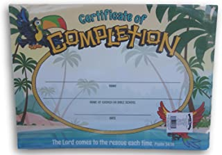 Vacation Bible School / Sunday School Psalm 34:19 Certificates - 25 Pc