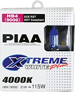 PIAA 19616 9006 (HB4) Xtreme White Plus High Performance Halogen Bulb, (Pack of 2)