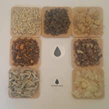 The Better Scents Resin Incense Variety Refill Set- 1 oz Packs of Frankincense, Myrrh, Sweet Myrrh, White Copal, Gold Copal, Benzoin, You'll Also get 1 oz of Loose Leaves White Sage.
