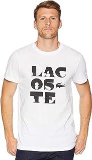 Lacoste Mens Sport Short Sleeve Tech Jersey T-Shirt w Word Play