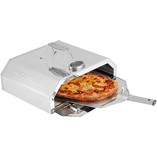 Blaze Box BBQ Pizza Oven with Temperature Gauge for Outdoor Garden Barbecues & Gas Grills (Pizza Oven with Paddle)