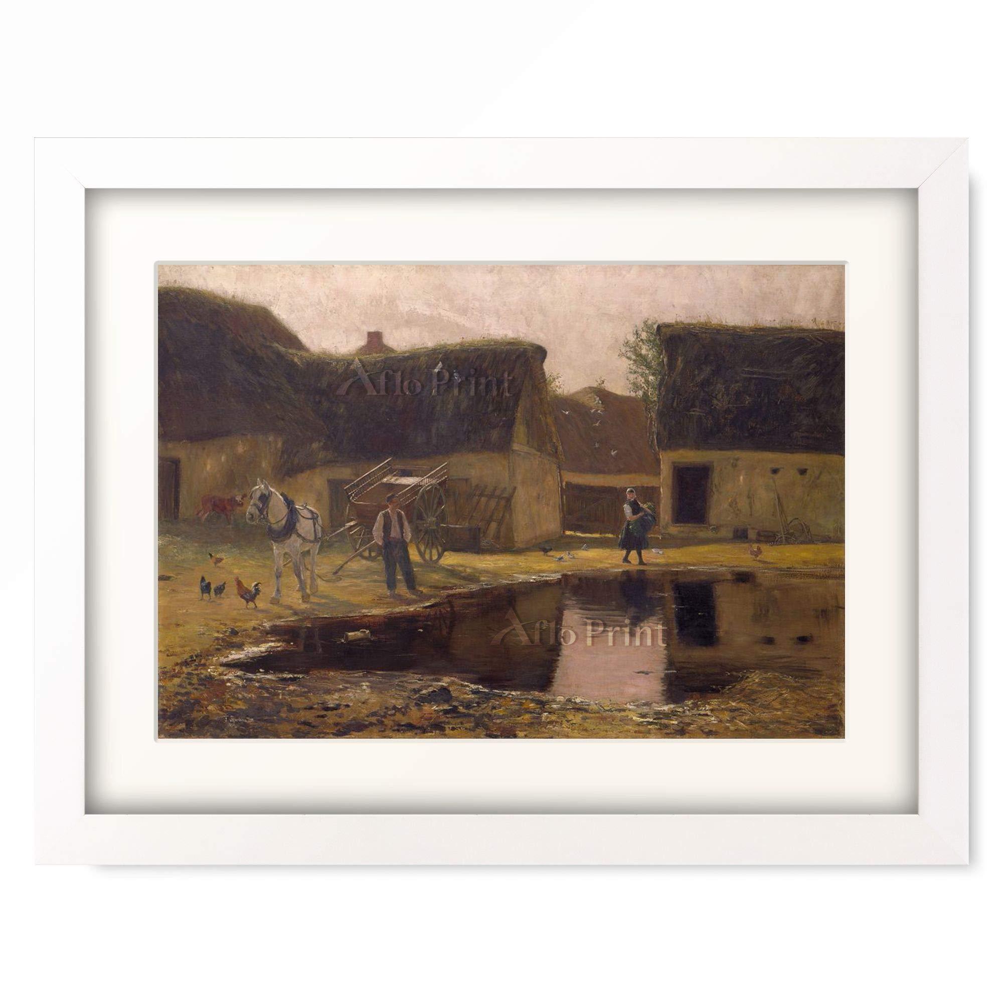 Amazon Franz Skarbina Farmstead In The Picardy Region 1890 É¡è£…アート作品 ¢ートフレーム Ýスター ªンライン通販