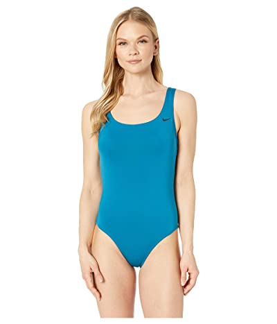 Nike Solid U-Back One-Piece (Green Abyss) Women