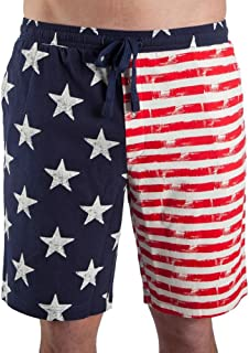 Bioworld USA Distressed American Flag Men's Lounge Pajama Shorts