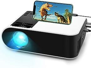 پروژکتور فیلم کوتاه ، پروژکتور سینمای خانگی قابل حمل WayGoal HD 4500 Lx با 50000 ساعت عمر لامپ LED و پشتیبانی از 1080P ، نمایشگر 150 اینچی برای تلویزیون ، بازی ویدیویی ، پورت دوگانه USB
