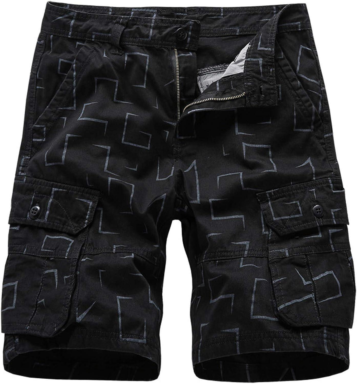 Men's Multi-Pocket Cargo Shorts Solid Color Outdoor Casual Overalls Short Pants Summer Versatile Sports Shorts - Limsea