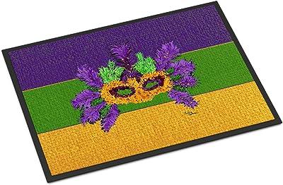 "Caroline's Treasures 8389MAT Mardi Gras Indoor or Outdoor Doormat, 18"" x 27"", Multicolor"