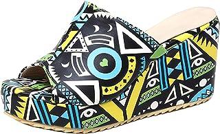 HapyLady Dames Mode Sloffen Zomer Shoes Platform Muiltjes