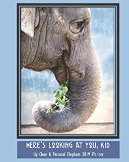 Here's Looking at You, Kid Up Close & Personal Elephant 2019 Planner: Weekly Monthly Calendar Organizer and Engagement Book