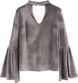 Best velvet choker blouse Reviews