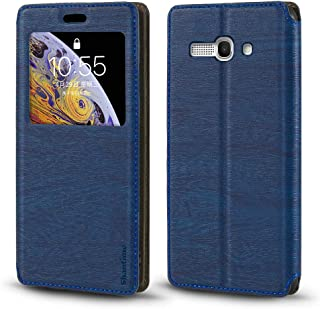 Alcatel One Touch Pop C9 7047 Case, Wood Grain Leather Case with Card Holder and Window, Magnetic Flip Cover for Alcatel O...
