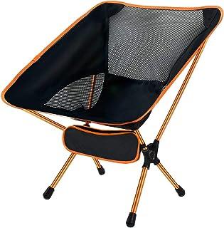Ledeak Silla de Camping Plegable, Ultraligero Portátil Silla Playa con Bolsa de Transporte, Fácil de Llevar Ideal para Sen...
