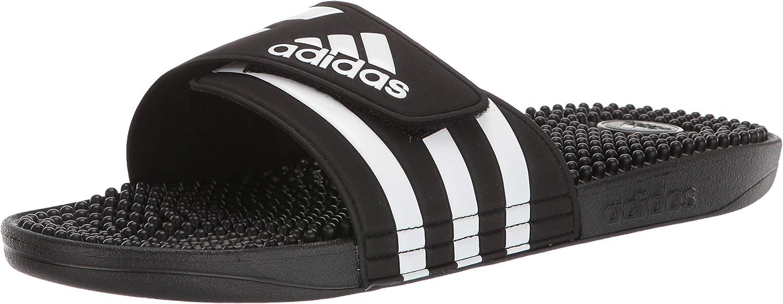 | adidas Men's Adissage Sandal Run White/Graphite/Run White | Sandals