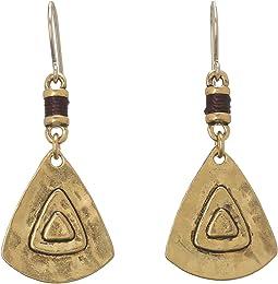 The Sak - Metal Triangle Drop Earrings