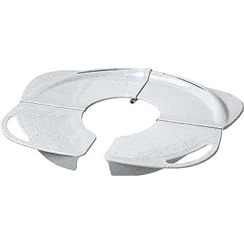 PRIMO Folding Potty with Handles, White Granite