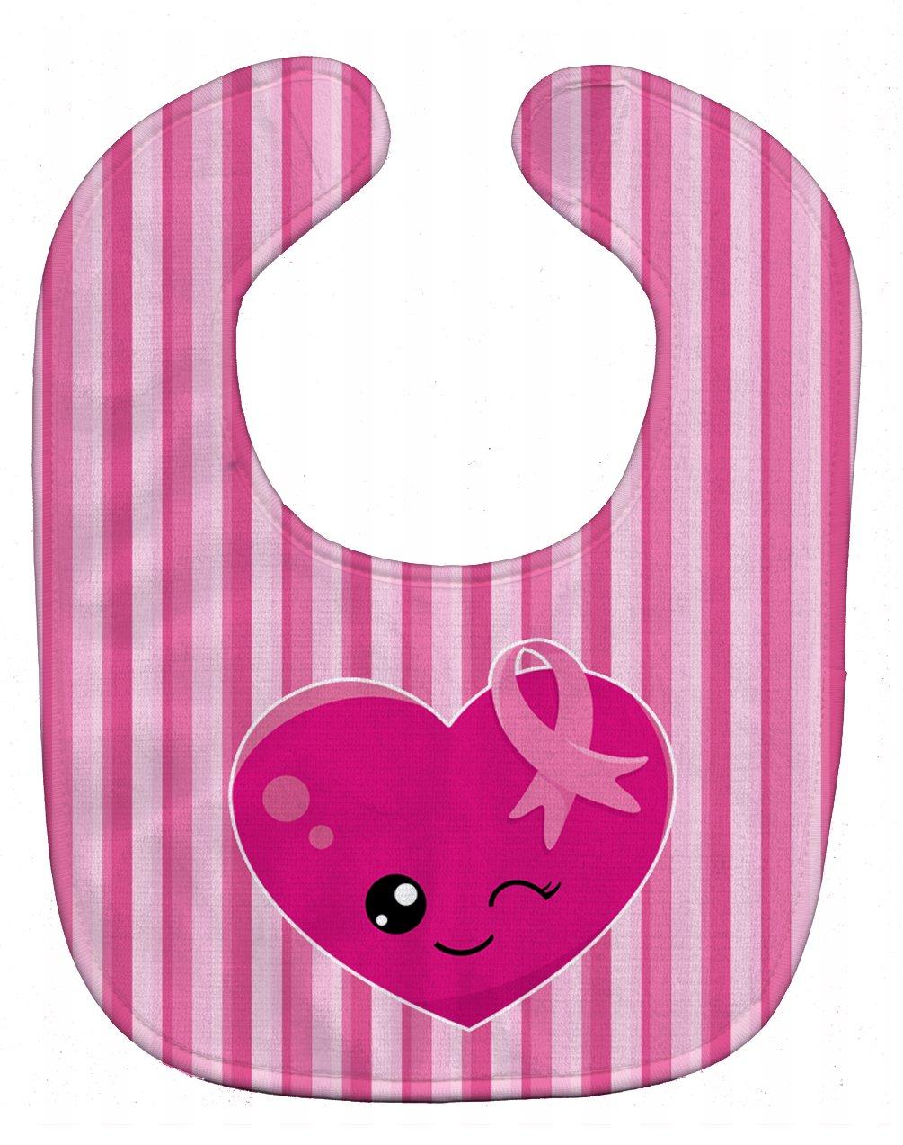 Caroline's Treasures BB6982BIB Breast Cancer Awareness Ribbon Heart Baby Bib, 10 x 13