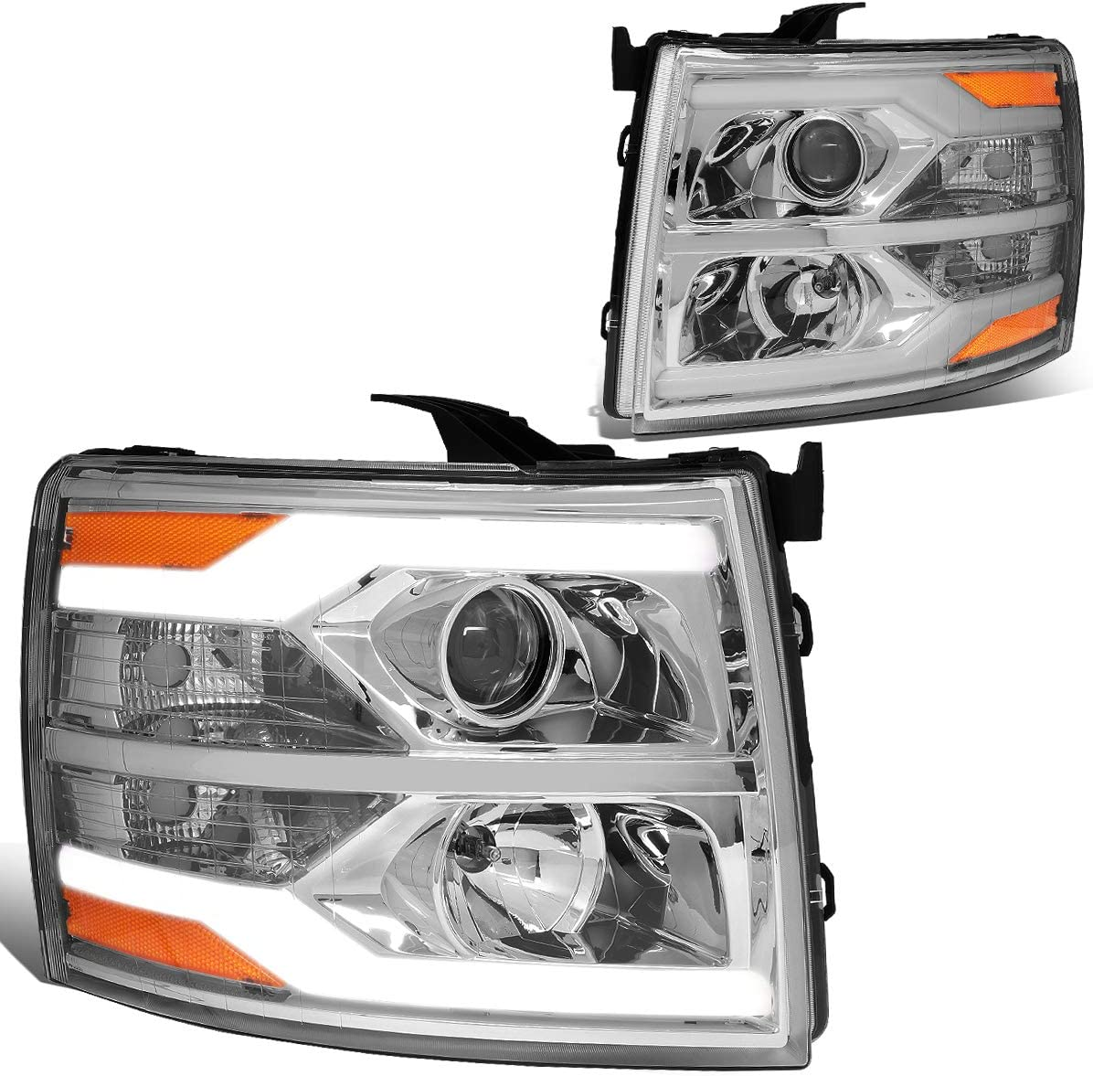 DNA Motoring HL-HPL-CSIL07-G2-CH-AM Headlights sold out Indefinitely Chrome Projector