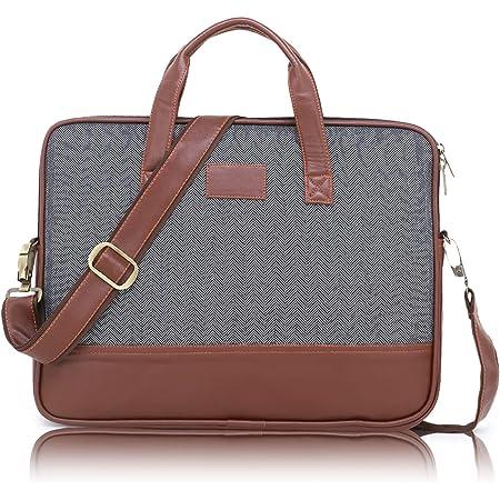 World Speed 15.6-inch Laptop Computer Briefcase,Water Resistant, Business Bag with Waterproof Zipper,Shoulder Bag Artificial Leather Handbag,Compatible with laptop MacBook Notebook,for Men/Women