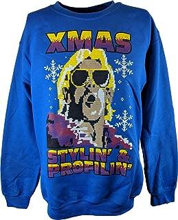 RIC Flair Blue Ugly Stylin Profylin Christmas Xmas Mens Sweater