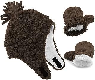 Baby Boy Sherpa Lined Warm Fleece Pilot Hat Infant...