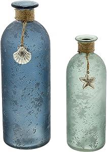 khevga Maritime Decorazione – Vaso Marittimo in Set da 2 Pezzi 26 e 20 cm di Altezza