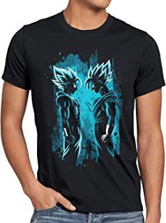 Super-Saiyajin Blue Camiseta para Hombre T-Shirt Dragon Roshi Ball Vegeta Evolution