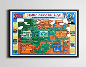 1992 Legend of Zelda: A Link to the Past - Hyrule Map POSTER! (24