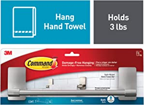 (Hand Towel Bar, Satin Nickel) - Command Hand Towel Bar, Satin Nickel, 1-Towel Bar (BATH41-SN-ES)