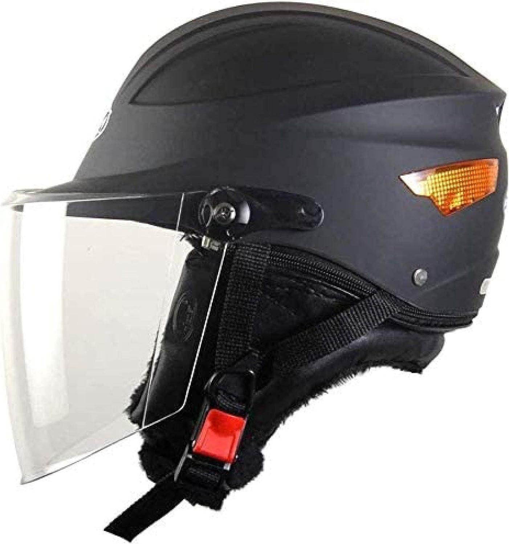 Portable Sun Protection Helmet Electric Bicycle Anti Fall Four Seasons Unisex Half Helmet,A