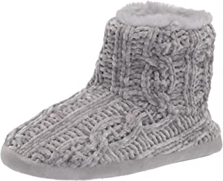 Dearfoams Leah Marled Chenille Knit Bootie womens Slipper