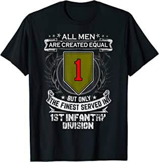 THE FINEST SERVED IN 1ST INFANTRY DIVISION TSHIRT