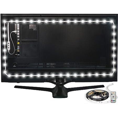 "Luminoodle Color Bias Lighting - 15 Color USB Powered TV Lights - RGB LED TV and Monitor Strip Light Kit - Medium (24"" - 29"" TV)"