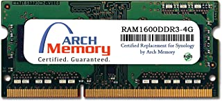 Arch Memory Replacement for Synology RAM1600DDR3-4G 4 GB DDR3L-1600 PC3L-12800 204-Pin So-dimm RAM for RackStation RS2416+/RS2416RP+