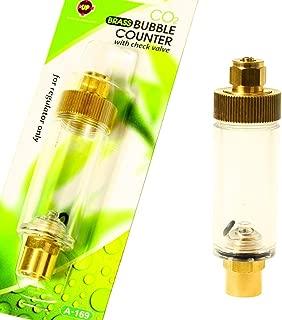 Aquarium Equip Co2 Bubble Counter w/check valve for Regulator AQUARIUM fish planted tank