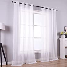 108 Inch Sheer Curtains for Living Room Bedroom Apartment Window 2 Panels Grommet Voile Drape Semi Sheer Curtain for Close...