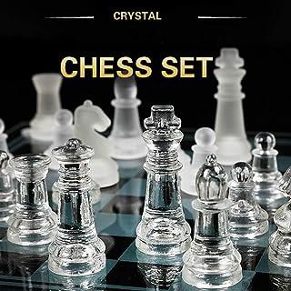 Acrylic Chess Board Anti-Broken Elegant Glass Chess Pieces Chess Game Chess Set Chess Game