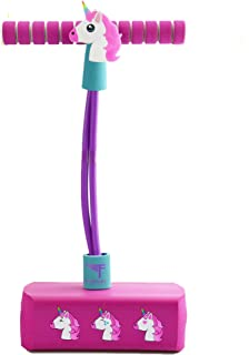 Flybar My First Pogo Pals Jumper for Kids Fun and Safe Pogo Stick for Toddlers, Durable Foam and Bungee Jumper for Ages 3 and up, Supports up to 250lbs (Unicorn)