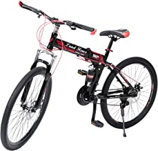 G4 Challenge Land Rover Folding Bicycle - Black Red 26 Inch