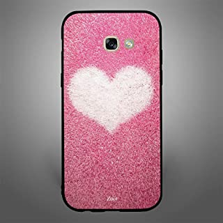 Samsung Galaxy A5 2017 Pink with white heart, Zoot Designer Phone Covers