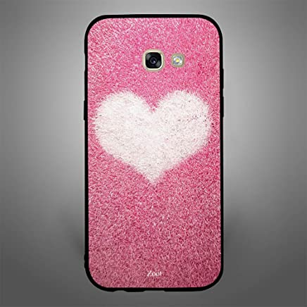 Samsung Galaxy A5 2017 Pink with white heart